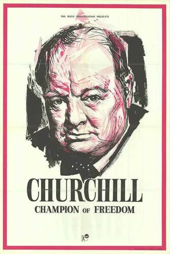WINSTON CHURCHILL CHAMPION OF FREEDOM original 1965 Documentary movie poster