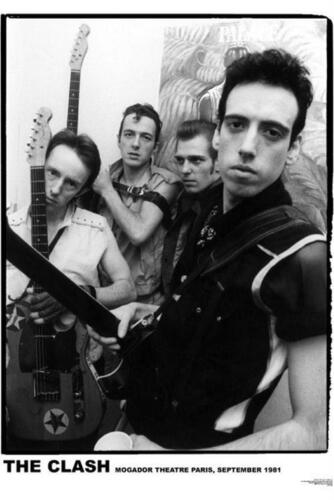 THE CLASH GROUP POSTER IN 1981 PARIS NEW 24x33 FREE SHIPPING