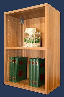 Walnuss Bücherregal (Wandregal Hängeregal Bücherregal Regal Mod.R422 Walnuss Nussbaum)