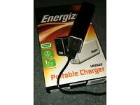 Energizer Portable Charger plus extra mains USB charger