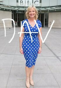 CAROL KIRKWOOD SEXY BLUE DRESS PHOTO BBC WEATHER
