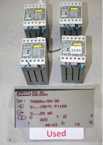 Jumo Tm020w-54/30 Transmitter Temperature Monitor Temperature Limiter