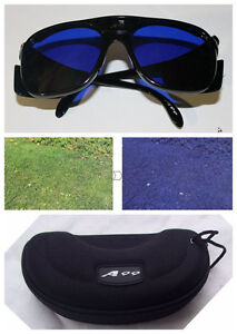 Golf Ball Finder Glasses Black Frame with Case E-1