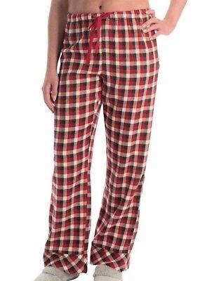 Woolrich Damen Flanell (Woolrich - Damen XXL - Nwt - Felsbrocken Rot Büffel Karierte Flanell Pyjama Hose)