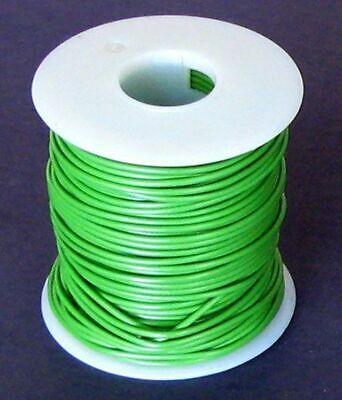 100ft 22awg 22ga Tinned Copper Light Green Teflon 600v Stranded Wire Bms13-60