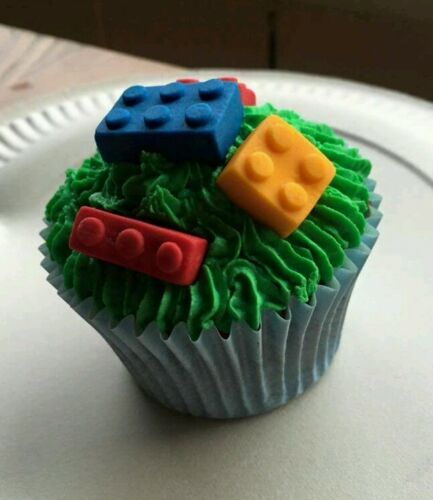 lego brick cup cakes