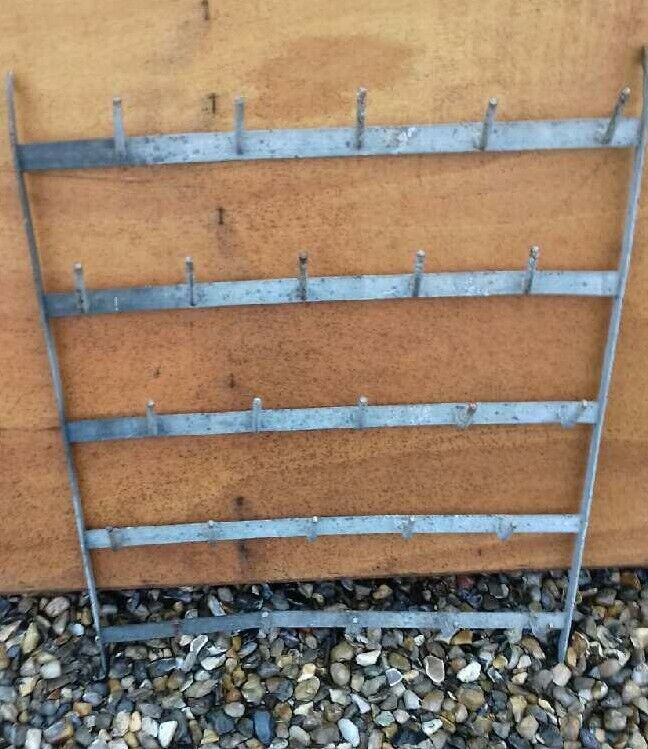 FRENCH ANTIQUE BOTTLE WALL DRYING RACK