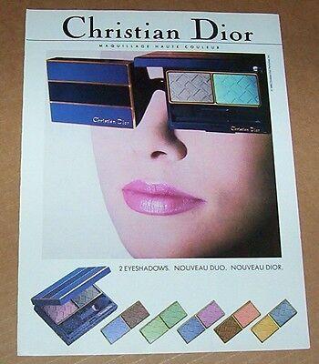 1988 vintage ad - Christian DIOR Make-up cosmetics girl EYES print Advertising