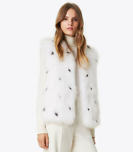 Tory Burch Beverly real fox fur vest jacket