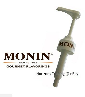 Genuine Monin Coffee Syrup Pump for 1L Plastic PET Bottles Pump Dose 10ml