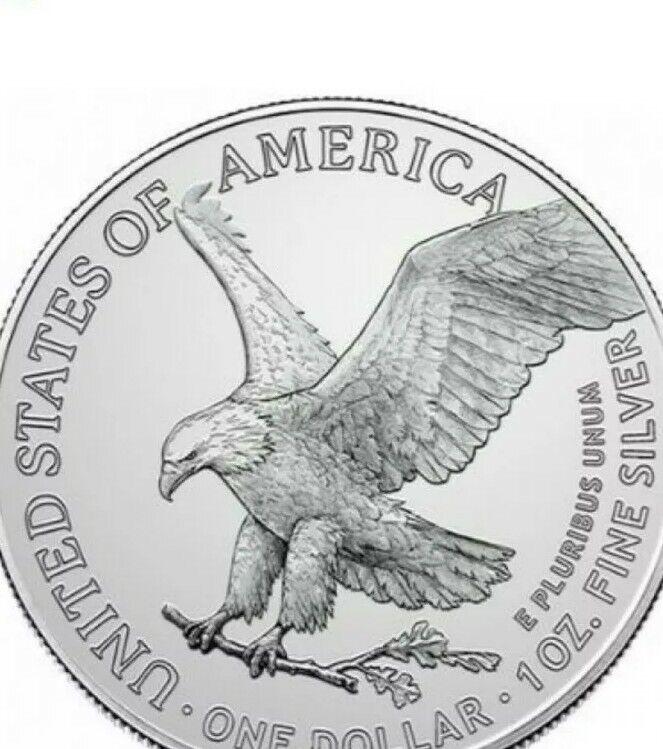 2021 1oz American Silver Eagle (TYPE 2)BU ☆PRE-ORDER☆ IN  CAPSULE [7/20Delivery]