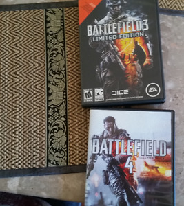 Battlefield 3 limited edition and Battlefield 4 for PC
