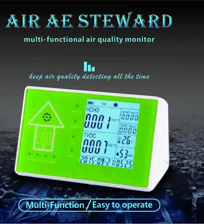 NEW 10 in 1 Multifunctional Indoor/Outdoor Air Quality Monitor Accurate Testing