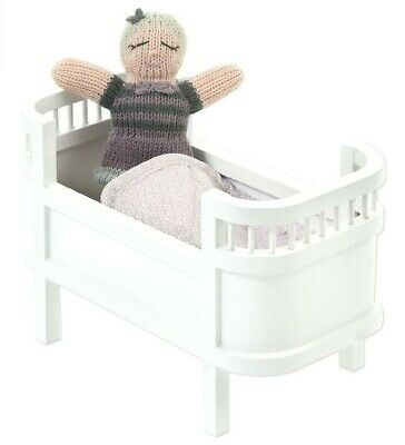 Wooden Dolls Bed Cot Brand New Handmade by Smallstuff in White