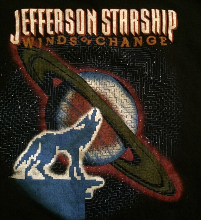 Jefferson Starship Winds Of Change Vintage Concert T-Shirt Size M 38–4