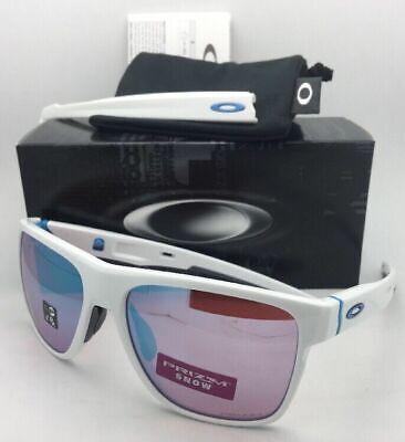 New OAKLEY Sunglasses CROSSRANGE XL OO9360-08 White w/ Interchangeable (Sunglasses Interchangeables Temples)