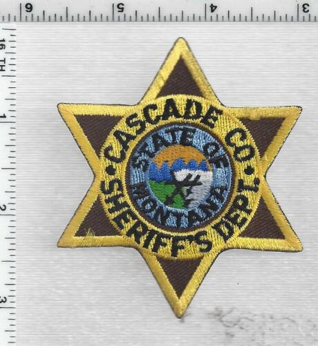 Cascade County Sheriff (Montana) 1st Issue Cap/Hat Patch