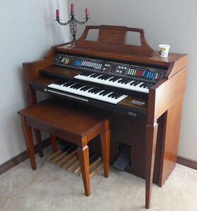 CLASSIC BALDWIN INTERLUDE ORGAN with STORAGE BENCH- moving, must
