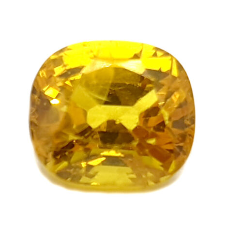 3.45 Ct Certified Natural Yellow Sapphire Super Premium Quality Loose Cushion