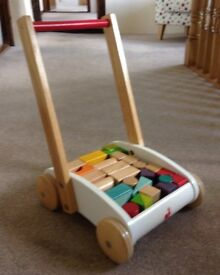 Janod Baby Walker with Colourful Blocks - Excellent Condition - Not used!
