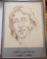 1980 John Lennon Memorial Sketch  - Rare! Beatles Collectable!