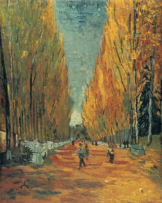 Les Alyscamps Van Gogh Famous Painting Cotton Canvas Print Wall Art Small 8x10 for sale  North York