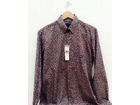 Diesel Men's S-Judyk Fine Floral Print Designer Shirt Size L Brand New