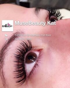 Downtown Eyelash extension from 55$!  Chrome Nail 50$!