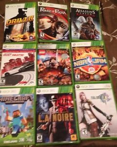 Xbox 360 console with 16 games