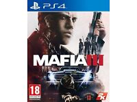 MAFIA 3 like new on PS4 - Unwated present in mint condition