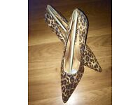 Ladies Leopard Print Shoes New In Boxes Sizes-2/3/4/5/6