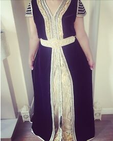 Stunning Two Piece Suede Moroccan Kaftan