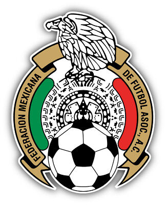 Mexico National Team Soccer Football Car Bumper Sticker Decal 4'' x 5'' - Soccer Stickers