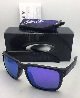 JULIAN WILSON Oakley Sunglasses HOLBROOK OO9102-26 Matte Black w/Violet Iridium