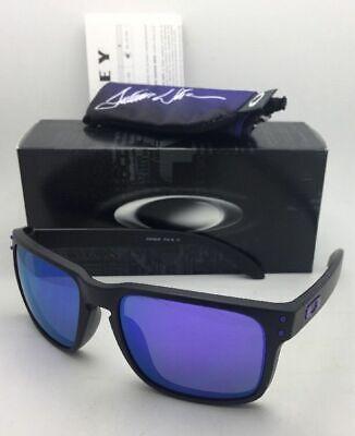 JULIAN WILSON Oakley Sunglasses HOLBROOK OO9102-26 Matte Black w/Violet Iridium (Julian Wilson Oakley Holbrook)