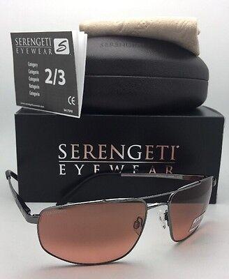 Serengeti Photochromic Sonnenbrille Modugno 8408 Pgt Gunmetal Aviator Fahrer