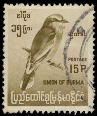 """BURMA 181 (Mi182) - Indian Roller """"Coraicas benghalensis"""" (pa50614)"""