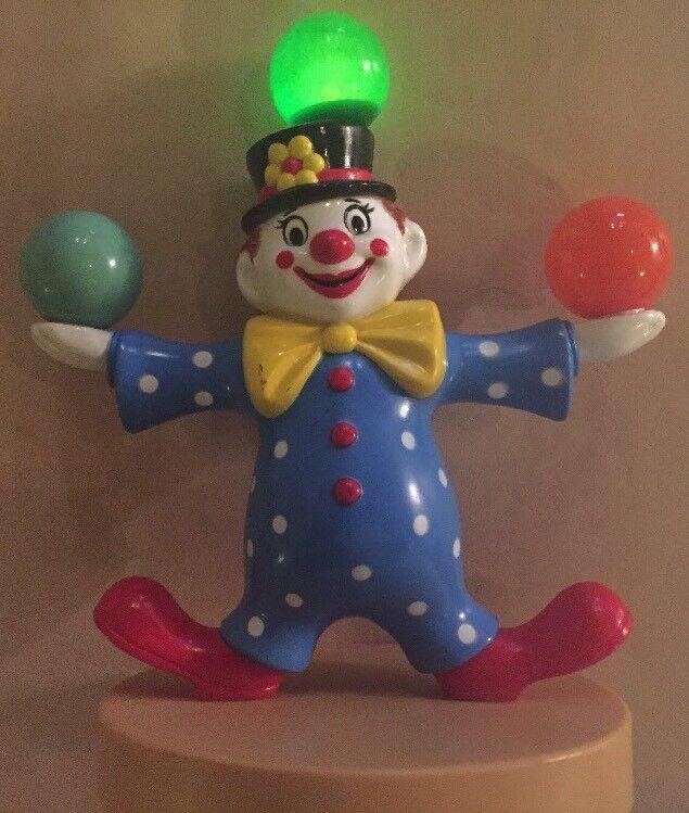 1980 Synchronized Nursery Musical Light Up Clown Vintage Lullabells Calfax