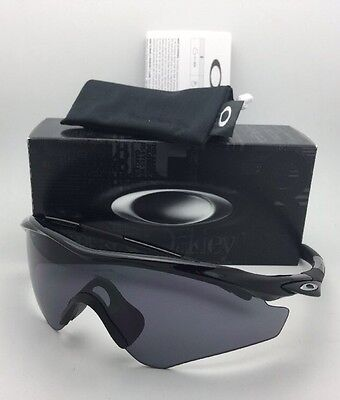 New OAKLEY M2-FRAME XL Sunglasses OO9343-01 Black Frames with Grey Lens