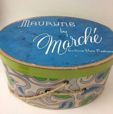MAURYNE BY MARCHE Vintage Cardboard Wig Hair Fashion Box Mod 1960's Rare  MR