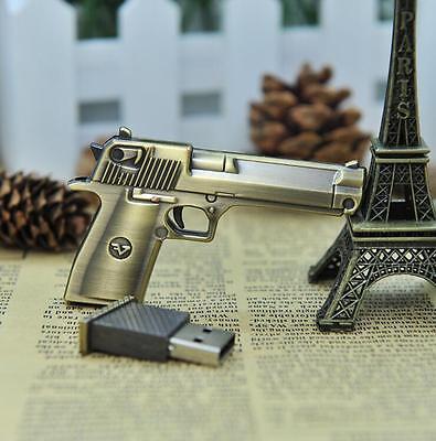 New Metal Gun Pistol model usb 2.0 flash memory stick Disk pen thumb drive 4-32G