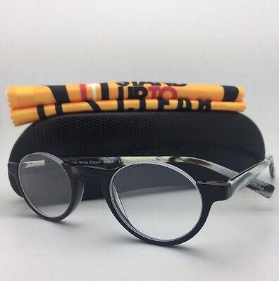 Readers EYE•BOBS Eyeglasses VICE CHAIR 2447 18 +2.25 Black Frame w/ Horn Temple