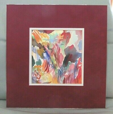 """MID-CENTURY MODERN """"BURST OF SPRING"""" ABSTRACT WATERCOLOR SIGNED DEDE COOVER - c."""