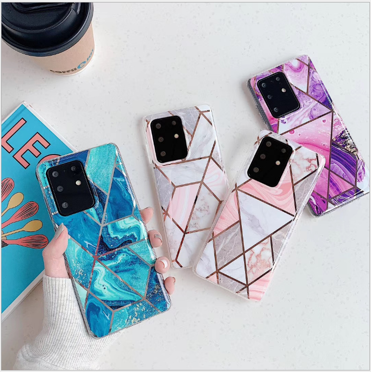 Geometric Marble Case for Samsung S20/A51/A71/A20e/A41/A91/A70 Soft Pastel Cover