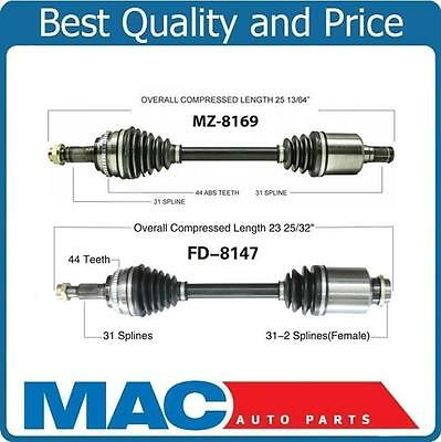 2 100 All New CV Axles Shafts for 2007 2011 Mazda CX7 Front DS  PS