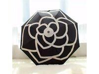 New with box/bag Chanel Umbrella VIP GIFT Cream Camellia Floral Ornament UK