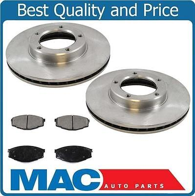 1984-1988 Toyota Pick Up rear Wheel Drive 1/2 Ton Brake Disc Rotors & Brake Pads ()