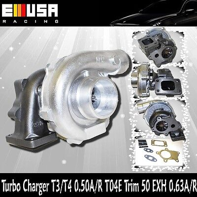 EMUSA T3/T4 Hybrid Turbo Charger .50 A/R .63A/R Toyota Honda Mazda Dodge Ford