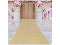 Sequin aisle runner