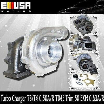 EMUSA T3/T4 Hybrid Turbo Charger .50 A/R .63A/R Toyota Honda Mazda Dodge Ford, used for sale  Griffith